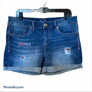 Seven7 sexy relaxed jean shorts high rise SZ 8 EUC